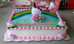 Rectangular Hello Kitty Cake with Rainbow.JPG