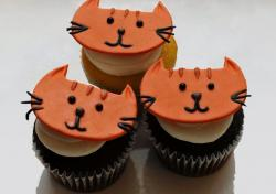 Orange cat face chocolate cupcakes.JPG