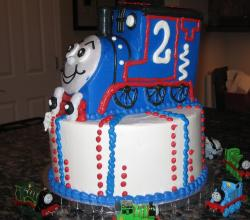 Thomas the Train birthday cake.JPG