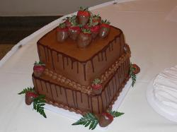 square chocolate Grooms Cake.jpg