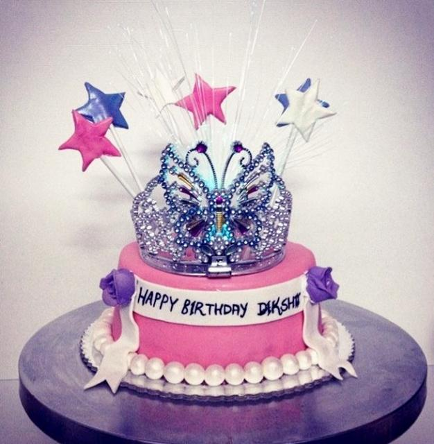 Pink Birthday Cake For For Girls With Tiara On Topg