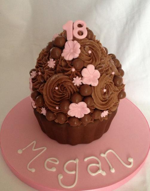 Supersized 18th Birthday Chocolate Cupcake Cakeg Hi Res 720p Hd