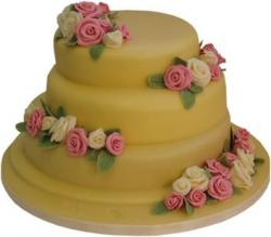 3 Tier White Chocolate Wedding Cake