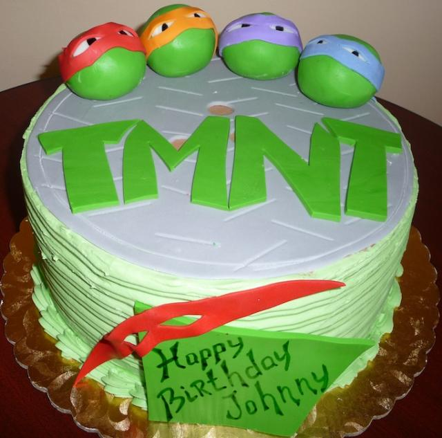 Teenage Mutant Ninja Turtles Cake by Roscoe Bakery
