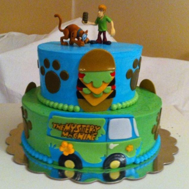 Awe Inspiring Two Tier Scooby Doo Cake Jpg Funny Birthday Cards Online Alyptdamsfinfo