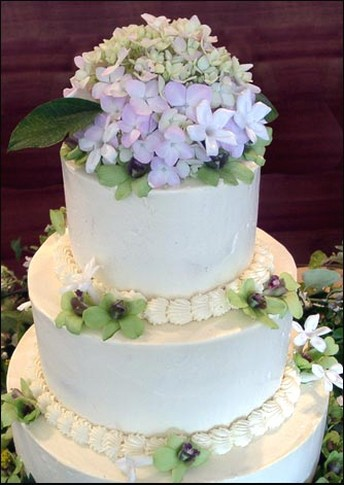 country style wedding cake picture