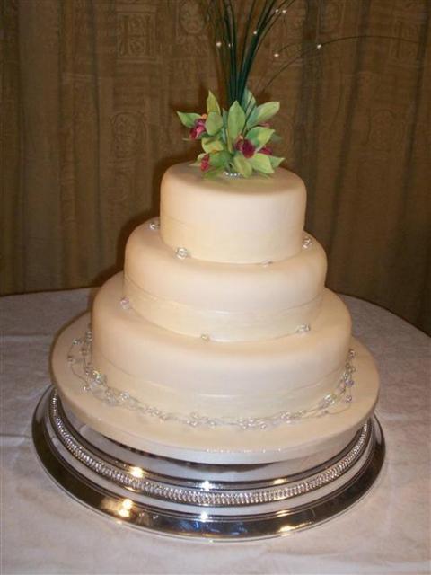Simply Orchids 3 Tier Wedding Cake