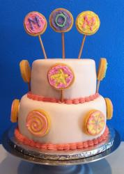 2 tier Mother's Day cake with cookie pops.JPG