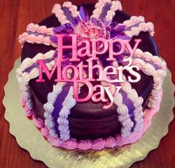 Chocolate happy Mother's Day cake with strawberry cream.JPG