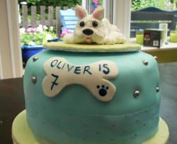Cool birthday cake for dog.JPG