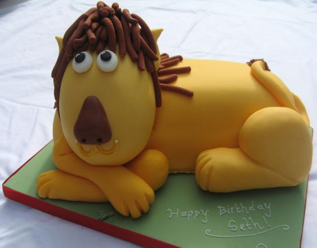 Cute Lion Birthday Cake Jpg 1 Comment