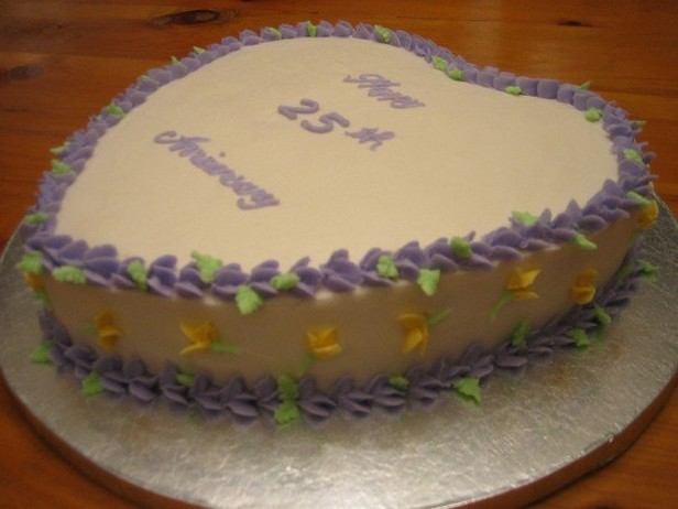 Cake Images For 25 Anniversary : 25 wedding anniversary cake.jpg