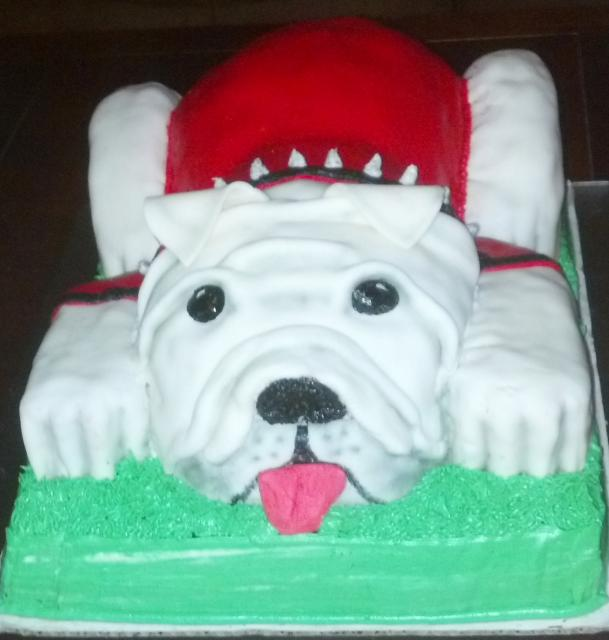 bulldog birthday cake