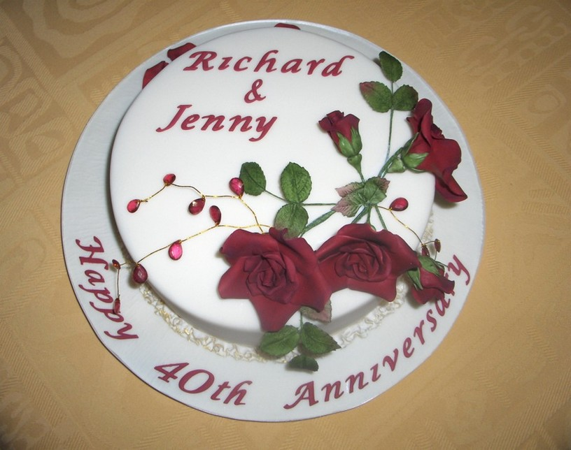 40th anniversary cake ideas 40th wedding anniversary cake