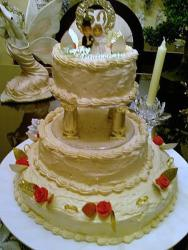 50th Anniversary cake with topper.jpg