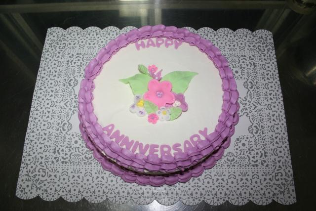 Hd Images Of Anniversary Cake : anniversary cakes with floral topper.jpg Hi-Res 720p HD