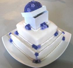 Anniversary Mini Cake with dark purple flowers.jpg