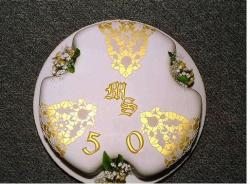 photo of Beautiful Golden anniversary cake.jpg