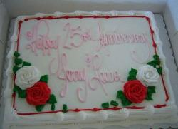 square 25th anniversary cake with floral decor.jpg