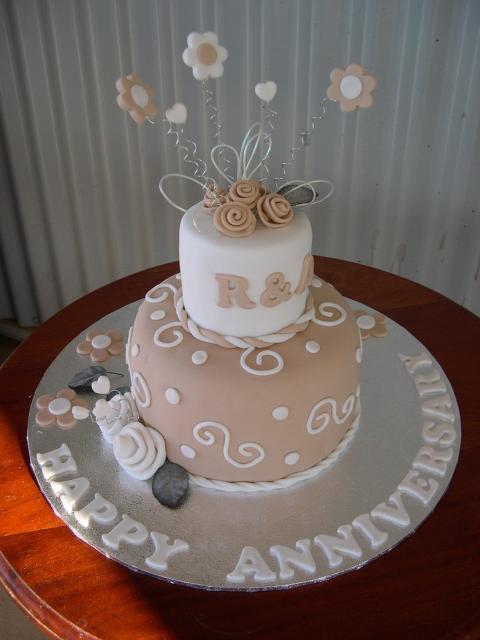 Trendy Wedding Anniversary Cake Photo Jpg
