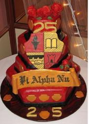Unique 25th Anniversary Cake in bright red.jpg