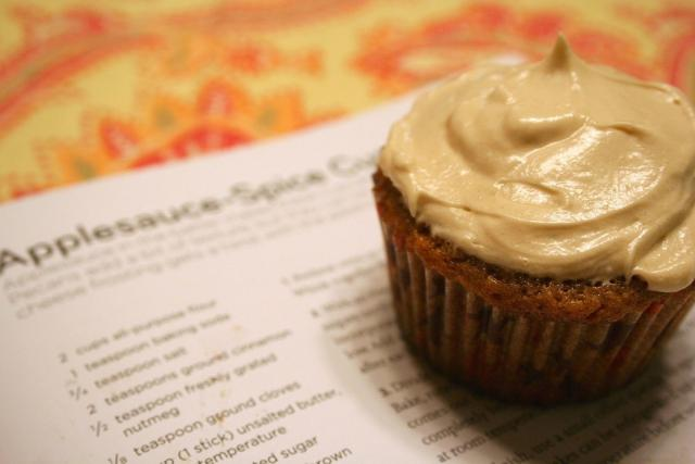 Applesauce Spice Cupcakes with Brown-Sugar Cream Cheese Frosting.jpg