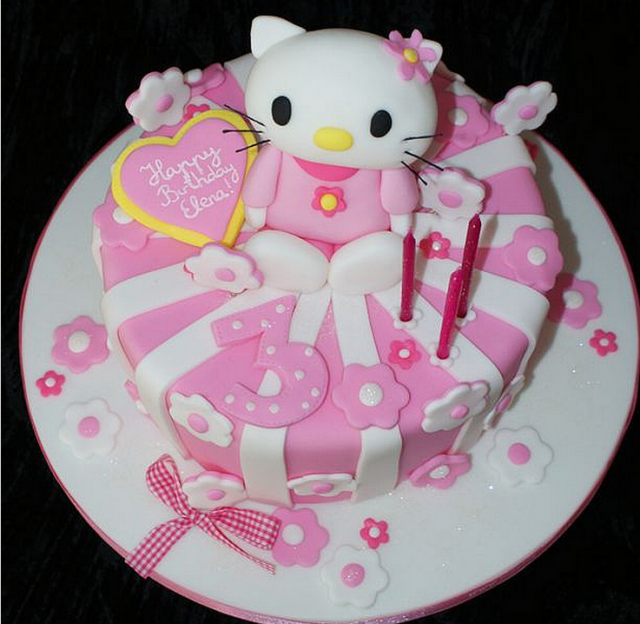 Cake Hello Kitty Pink : White pink Hello Kitty cakes photos.PNG Hi-Res 720p HD