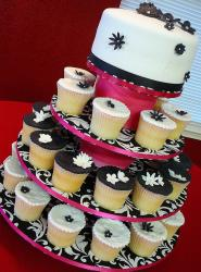 Black and White Cupcake Tower for wedding.jpg