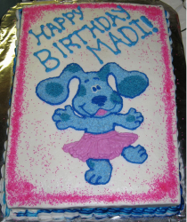 Dancing blue clues cake for kids birthday cake.PNG