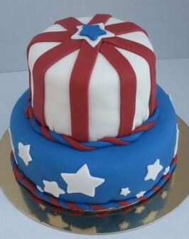 Enjoyable Red White And Blue Birthday Cake Patriotic Theme Jpg Funny Birthday Cards Online Alyptdamsfinfo