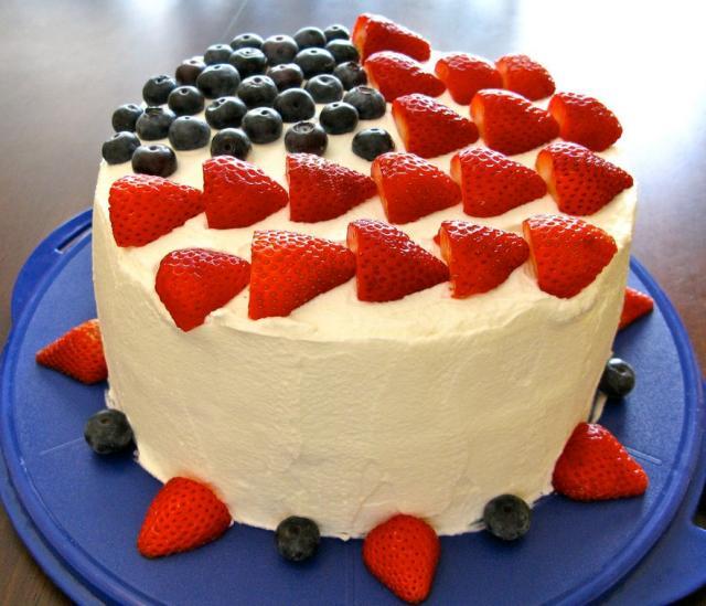 July 4th Strawberries And Blackberries Birthday Cakeg Hi Res 720p Hd