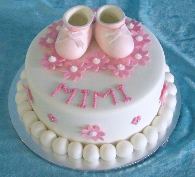 baby girl christening cake toppers