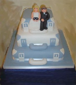 Suitcase Novelty Wedding Cake