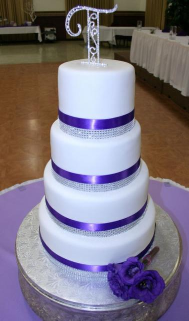two tier round simple wedding cakes white 4 tier wedding cake with purple and 21346