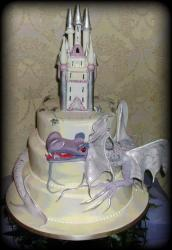Castle and Dragon wedding cake