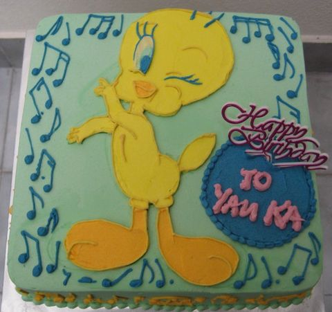 Pleasing Tweety Bird Birthday Cake Jpg Funny Birthday Cards Online Kookostrdamsfinfo