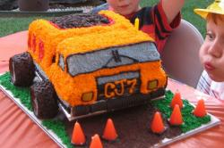 Dump truck birthday cake for kids.JPG