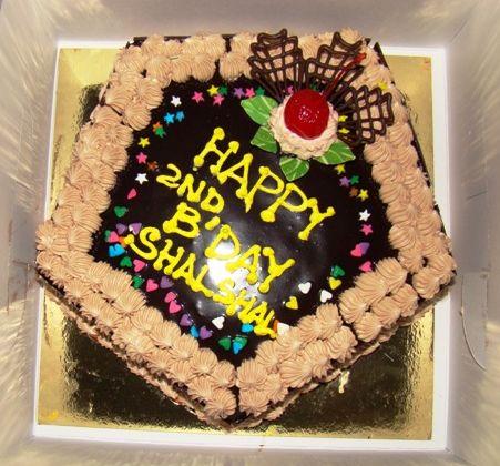 Pentagon Chocolate Birthday Cake Jpg
