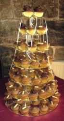 wedding cake cup cakes chocolate in seven tiers pictures