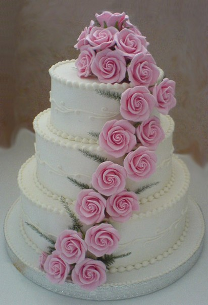 wedding cake rose with many beautiful light roses images