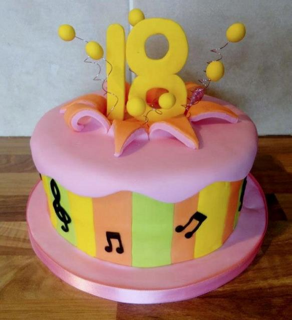 Pink Music Theme 18th Birthday Cake.JPG Hi-Res 720p HD