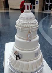 Detailed Domed Building 5 Tier Wedding Cake.JPG
