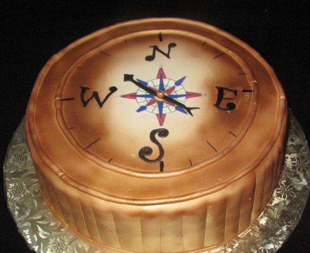 Compass Birthday Cake