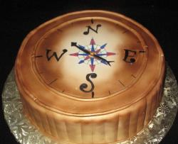 Groom's cake old world compass design.JPG