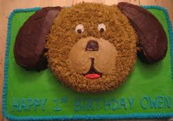 Puppy dog face birthday cake.JPG