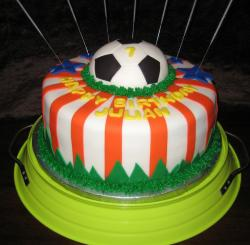 Soccer ball birthday cake for kids.JPG