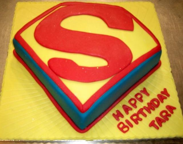 birthday cake symbol. Superman symbol birthday cake.JPG