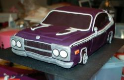 Purple car birthday cake.JPG