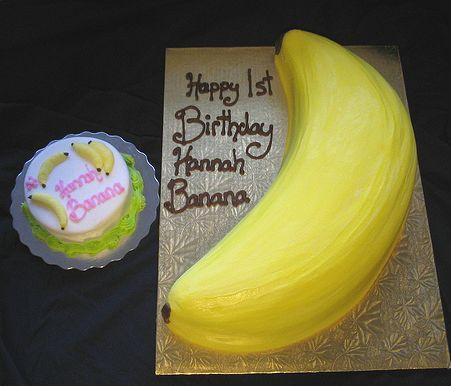 Banana Shaped Birthday Cake Jpg 2 Comments