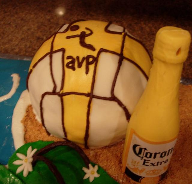 Sensational Volleyball Birthday Cake With Corona Jpg Hi Res 720P Hd Personalised Birthday Cards Beptaeletsinfo